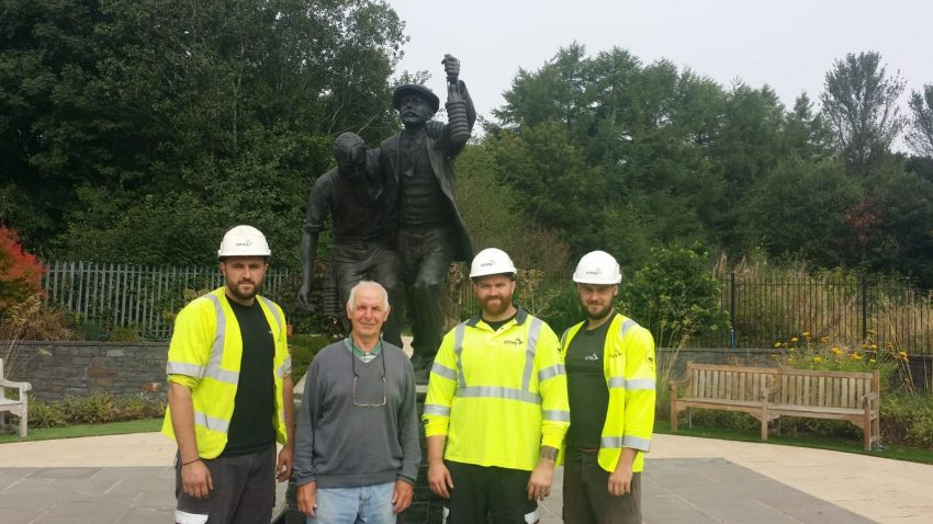 Senghenydd's mining memorial garden saved from future droughts