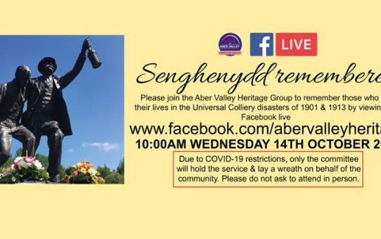 Senghenydd Remembered – Facebook Live memorial service