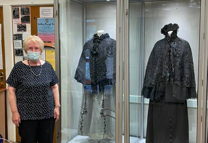 New display cases and dummies in the museum